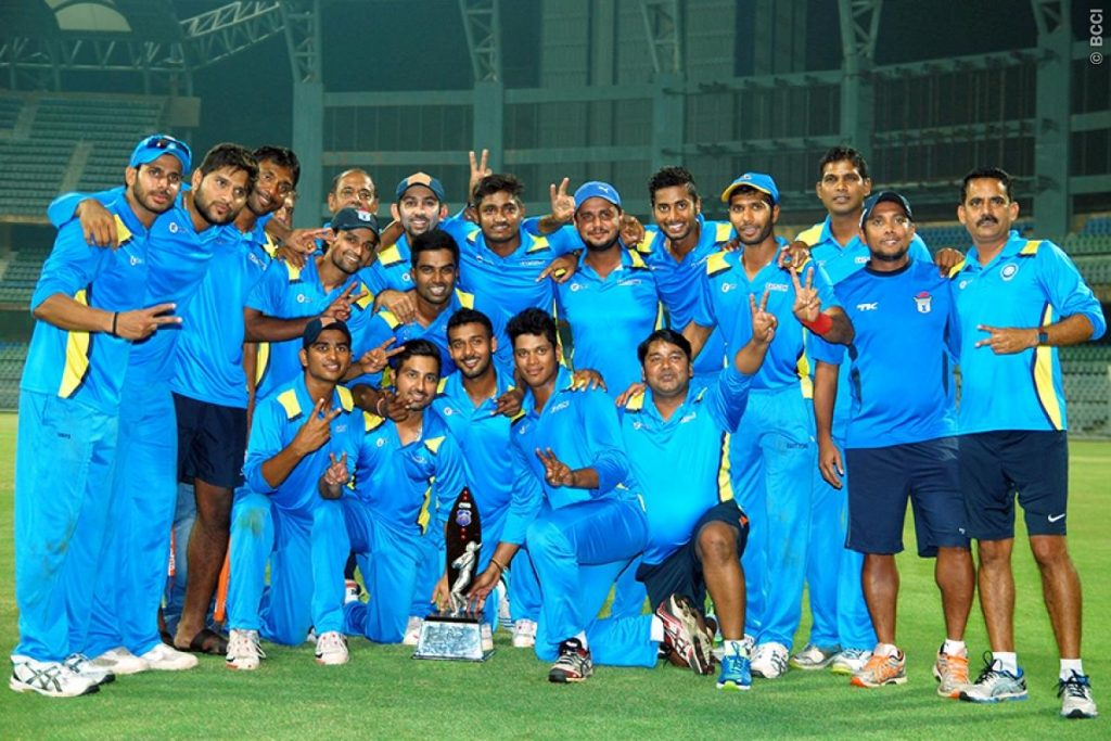 jharkhand team with trophy