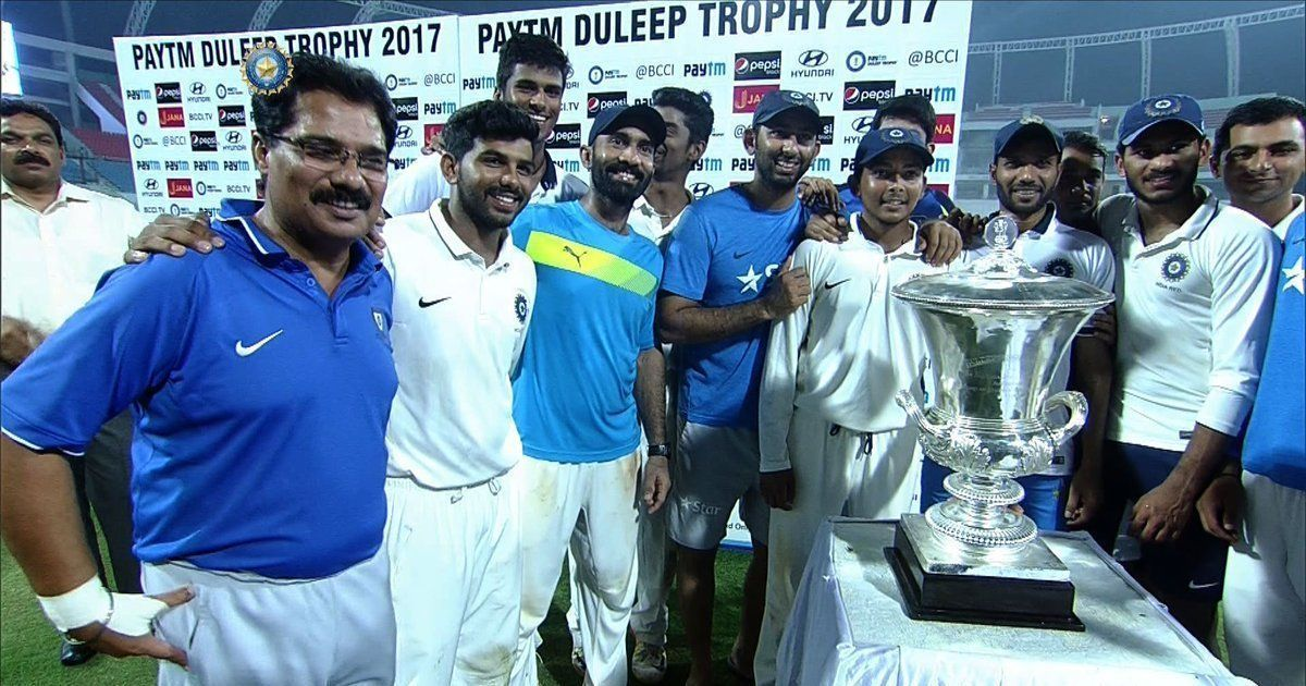 Rest of india team with trophy