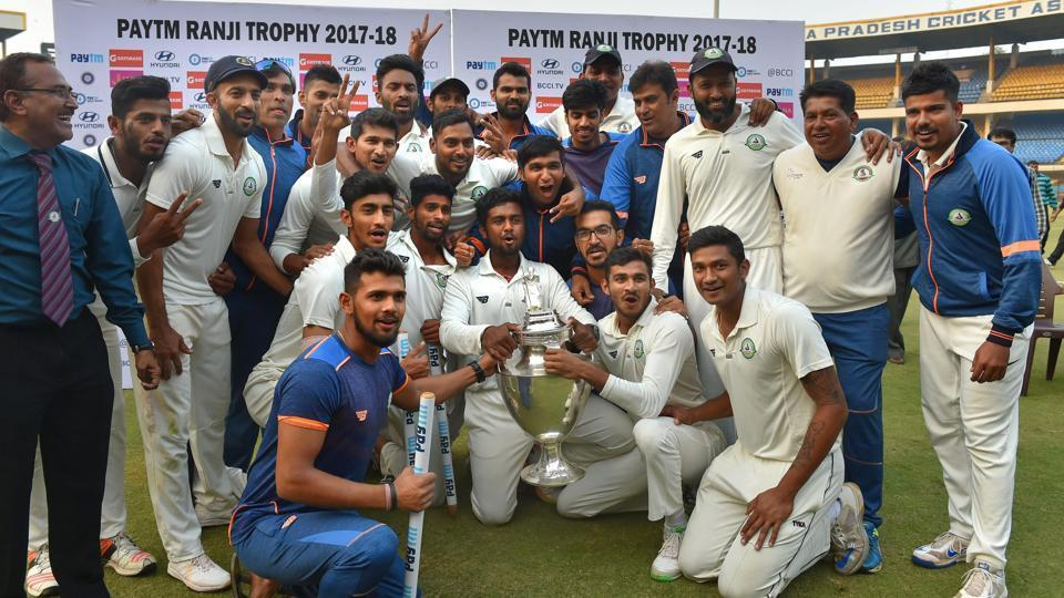 Viddharbha team with trophy