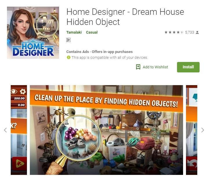 Home Designer – Dream House Hidden Object