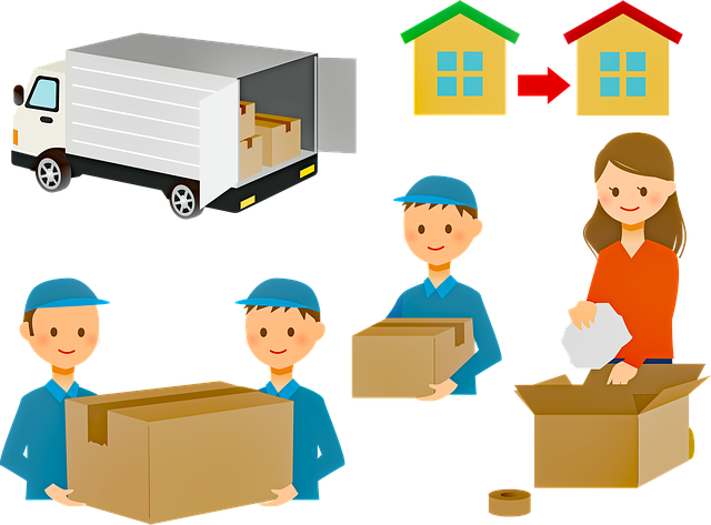 Moving process with a moving company