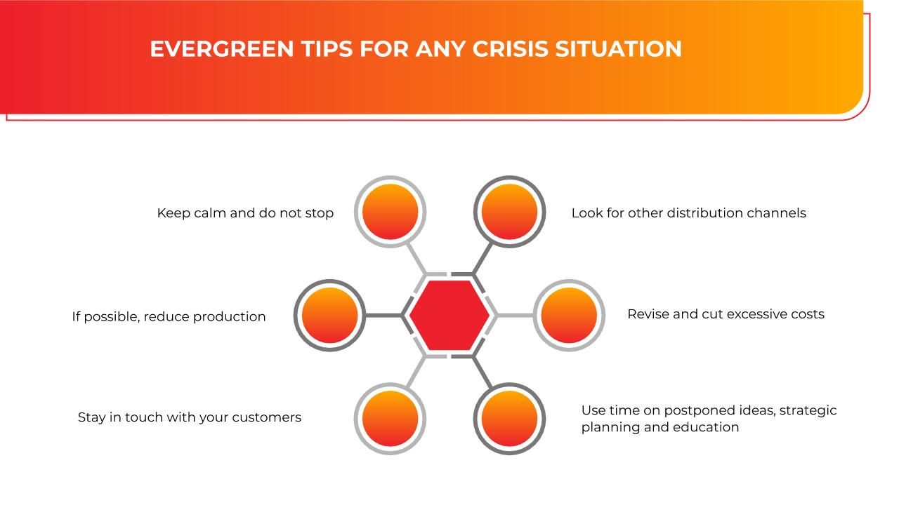 EVERGREEN TIPS FOR ANY CRISIS SITUATION