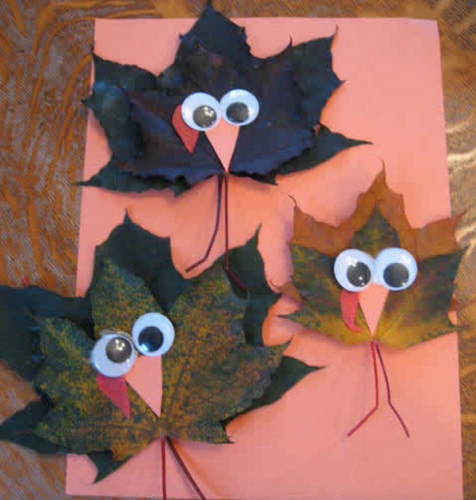 Turkey leaves craft