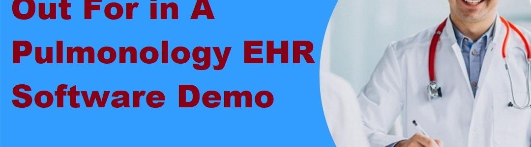 Pulmonology EHR Software Demo
